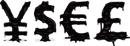 Melting yen, dollar, euro, sterling sings