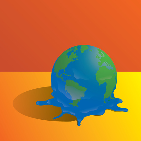 Melting planet earth
