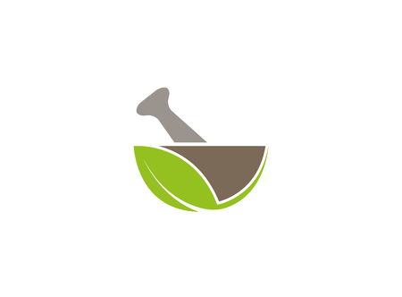Pharmacy bio and naturel recipe logo design 向量圖像