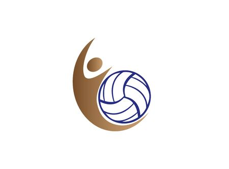 volleyball player smash and serving ball for design