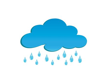 Rainy clouds     design illustrator, drops of rain symbol