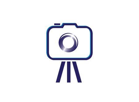 ilustración de diseño de fotografía de trípode de cámara