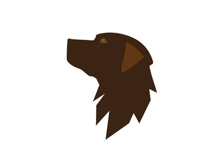 Head dog icon     design vector, pet symbol
