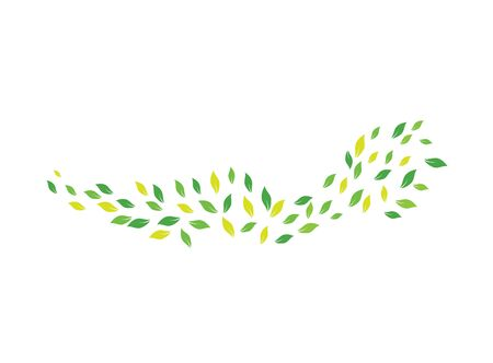 Fling leaves in a windy day   design vector, storm icon, nature symbol Illustration