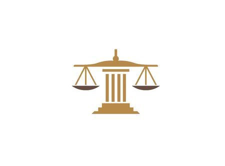 Balance scales on a law Building Justice design illustration