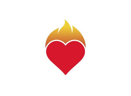 Heart and fire  design