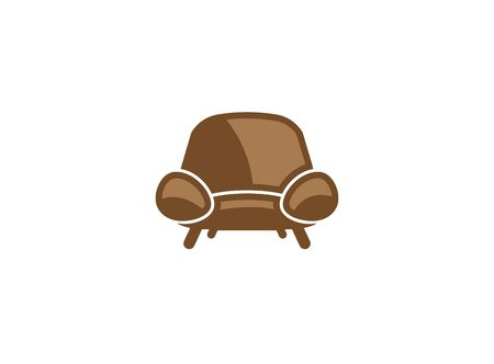 Classical chair without arms  design illustration