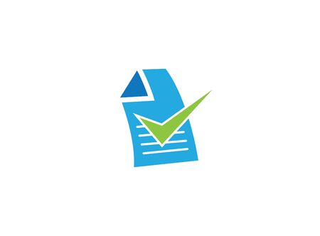 Writed paper or list with a check mark for design illustration on white background