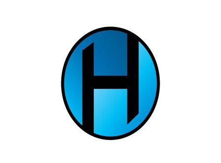 h alphabet symbol for design illustration vector on white background