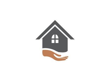 hand and home for design illustration on white background