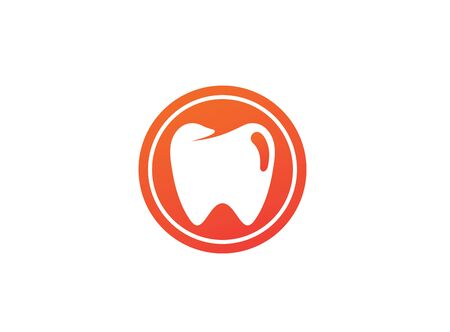 Teeth care symbol in the circle for dentist clinic  design illustration