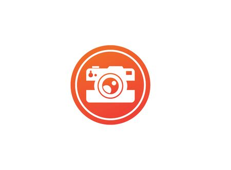 Photograph an old style camera design illustration in the shape on white background