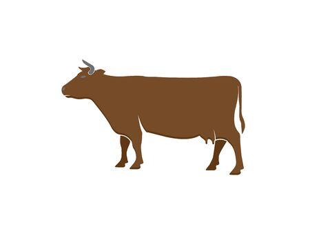 cow dairy for logo design illustration vector