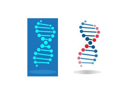 Diseño de sangre de círculos de ADN para ilustración de logotipo Logos