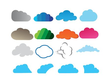 clouds set design for logo illustration  イラスト・ベクター素材