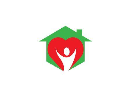 heart care body in heart for logo design illustration Banque d'images - 128709789
