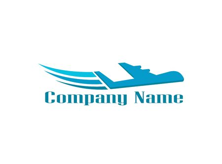 Plane logo concept vector image logo design illustration on white background Stock Illustratie