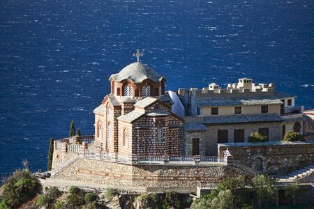 Greek Orthodox Church on Mount Athos near St Anna skit, Agion Oros, Greece