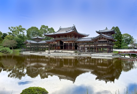Japanese Buddhist temple Byodoin in Uji village near Kyoto Editorial