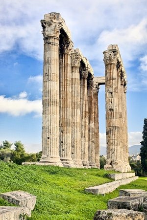 Remains of Temple of Zeus in Athens, Greece