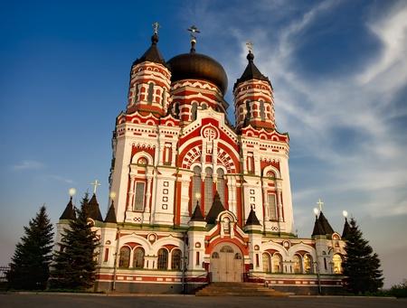 panteleimon: Saint Pantaleon (Panteleimon) Cathedral of Russian Orthodox monastery in Kiev, Ukraine Stock Photo