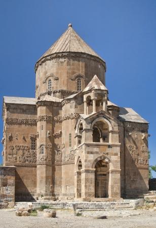 armenia: Ancient Armenian stone church on Akhtamar Island on Van Lake in Eastern Turkey