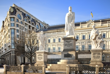 Monument of Princess Olga and Apostles on Mikhaylovska square in Kiev, Ukraine Editorial
