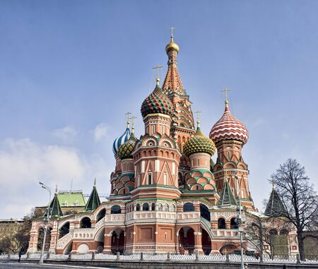St Basil's cathedral on Red square in Moscow Standard-Bild