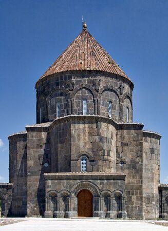 Ancient Armenian stone church in Kars in Eastern Turkey, near Armenian border Standard-Bild