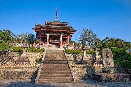 Entrance to Kiyomizu-dera Buddhist temple in eastern Kyoto, Japan