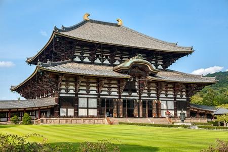 nara park: Todaiji Buddhist temple in the ancient Japanese capital Nara