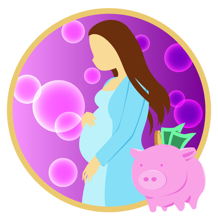 concept of saving money for cost about pregnancy