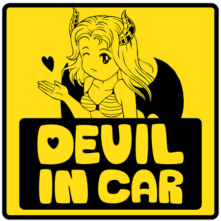 Another version of Devil in Car created by vector