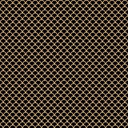 Seamless pattern background created by geometric object set to pattern like dragon scales