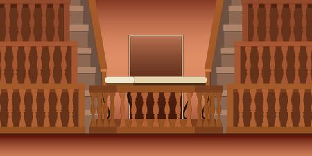 Vector illustration of old Anatomical Theater in university