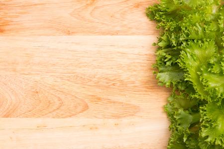 salad greens: salad greens on chopping block