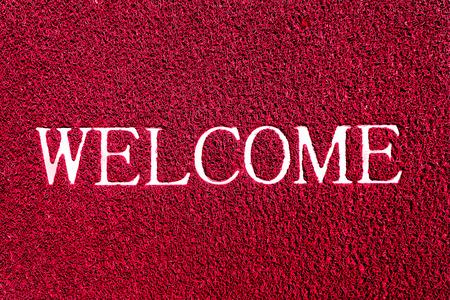 doormat: welcome doormat red color