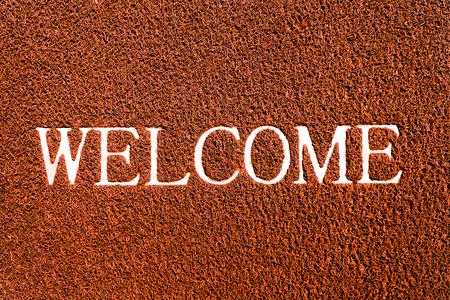 doormat: welcome doormat orange color