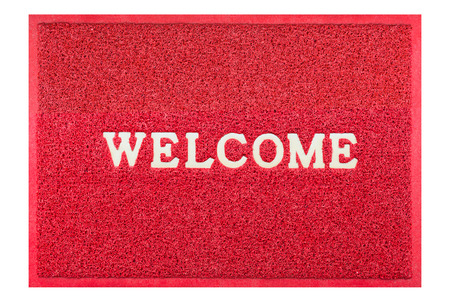 Welcome Doormat Red Color Stock Photo, Picture And Royalty Free Image.  Image 45963811.