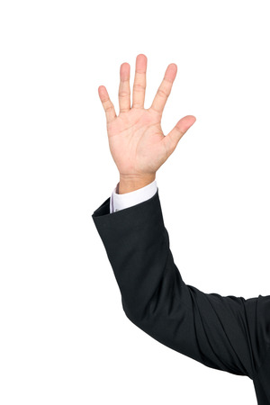 bussinessman: bussinessman show hand open