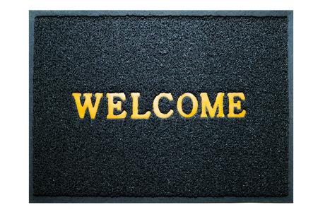 doormat: welcome doormat blue color