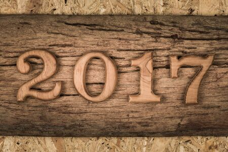 almanac: 2017 (two thousand seventeen) Stock Photo