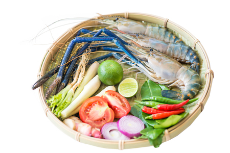 macrobrachium: Giant freshwater prawn and ingredient for tom yum goong, thai food Stock Photo