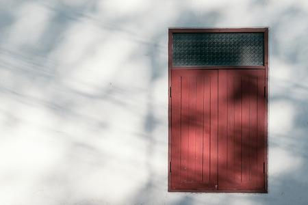 architech: vintage windows on the white wall