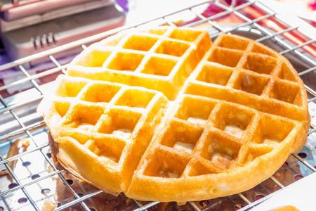 liege: Liege waffles on Stainless steel sieve