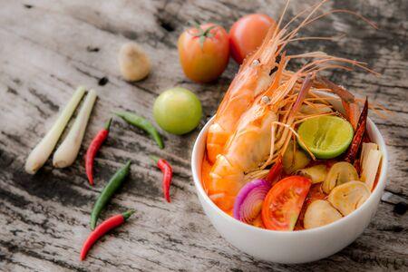 freshwater: Tom Yum Goong from Giant freshwater prawn , Thai favorite food