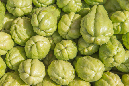 jhy: Chayote in fresh market Stock Photo