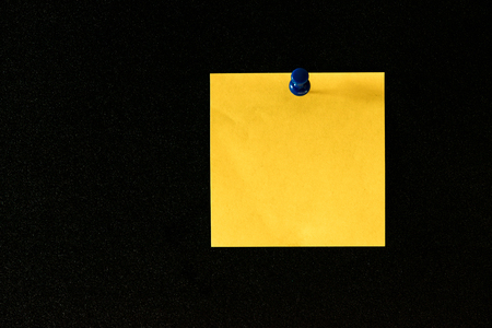 straight pin: sticky notes with pin on a blackboard