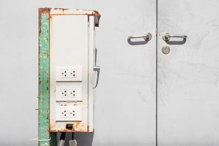 control box: plug socket on electric control box front door