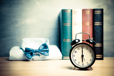 bussiness time: six oclock morning time for wake up to work , bussiness concept
